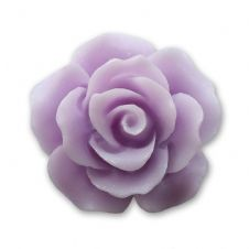 18mm Lavender Resin Rose Bloom Cabochon